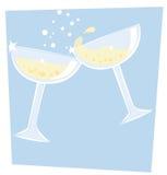 champagne royaltyfri illustrationer