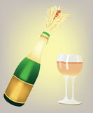 Champagne. Drink champagne - just for you Royalty Free Stock Photography