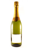 Champagne. A champagne bottle isolated on white, (your text on the label Royalty Free Stock Photos