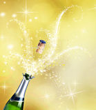 Champagne. Explosion closeup.Celebration Concept Royalty Free Stock Photos