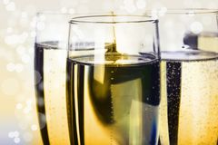 Champagne. Beauty champagne on bright background Royalty Free Stock Images