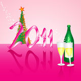 Champagne for 2011 midnight Royalty Free Stock Photo