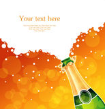 Champagne. Vector illustration of champagne back Royalty Free Stock Photography