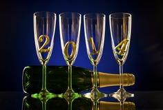 Champagne 2014 Royalty-vrije Stock Foto