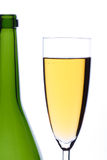 Champagne. Glass with champagne on a white background Stock Photography