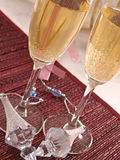 Champagne. Two flutes of Champagne for New Year royalty free stock image