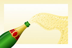 Champagne. Vector illustration of a bottle of Champagne Stock Photo