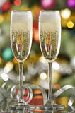 Champagne. Two glasses of champagne close up shoot Royalty Free Stock Images
