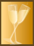 Champagne. Illustration Two Champagne Glasses Royalty Free Stock Photography
