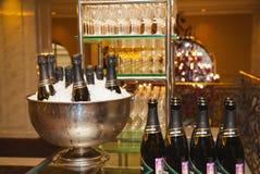 Champagne Abrau Durso på banketten Royaltyfri Fotografi