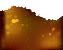 Champagne 3. Abstract background color of champagne with bubbles and flares Stock Photos