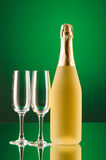 Champagne against  gradient background Royalty Free Stock Photography