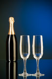 Champagne against  gradient background Stock Image