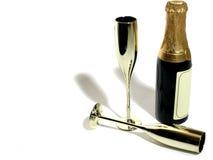 Champagne & flautas Foto de Stock Royalty Free