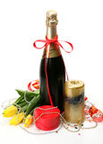 Champagne And Candle Royalty Free Stock Photo