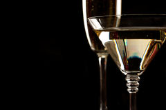 Free Champagne And Martini Glasses Over Black Stock Photos - 17002513
