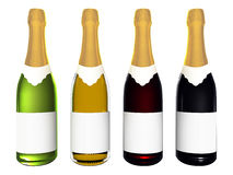 Champagne And Wine Bottles Stock Image