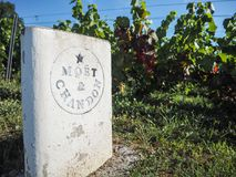 "Champagne- Ardenne Frankrike - Augusti 2017: Champagnehus Moà "", Royaltyfri Bild"