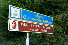 Champagne-Ardenne sign Stock Photos