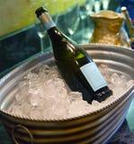 Champagne auf Eis Stockbilder