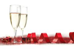 Champagne auf Funkeln Lizenzfreies Stockfoto