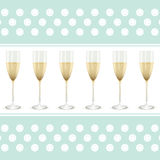 Champagne background Stock Photography