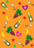 Champagne_background Stock Photography