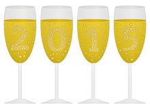 2015 champagne background. Design a background with the date 2015 created with champagne Stock Images