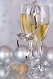 Champagne & Baubles Stock Photos