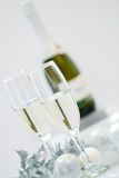 Champagne & Baubles Stock Photo