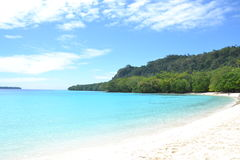 Champagne Beach Vanuatu royaltyfri foto