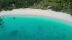 Champagne Beach, Vanuatu, isla de Espiritu Santo, Luganville, South Pacific almacen de metraje de vídeo