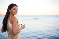 Champagne bebendo Foto de Stock Royalty Free