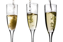 Champagne being poured Royalty Free Stock Images