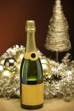 Champagne bij Kerstmis Royalty-vrije Stock Fotografie