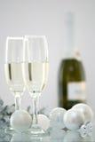 Champagne bij Kerstmis Royalty-vrije Stock Foto