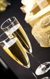 champagne blåser flöjt två Royaltyfri Fotografi