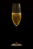 Champagne on Black Royalty Free Stock Photos