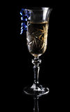 Champagne on a black background Royalty Free Stock Image