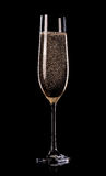 Champagne on black background Royalty Free Stock Photo