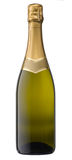 Champagne Blank Bottle. Isolated Champagne bottle with clipping path Royalty Free Stock Photography