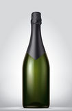 Champagne blank bottle Stock Image