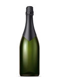 Champagne blank bottle Royalty Free Stock Images