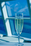 Champagne on Blue Vertical Royalty Free Stock Photo