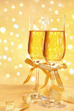 Champagne with blur light Royalty Free Stock Images