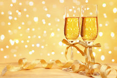 Champagne with blur light Royalty Free Stock Image