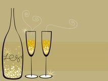 Champagne bolle la celebrazione illustrazione vettoriale