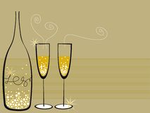 Champagne borbulha celebração Foto de Stock Royalty Free
