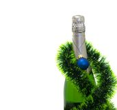 Champagne bottle. Isolated on a white background Royalty Free Stock Photos