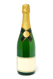 Champagne bottle. A plain champagne bottle isolated on white background Royalty Free Stock Photos